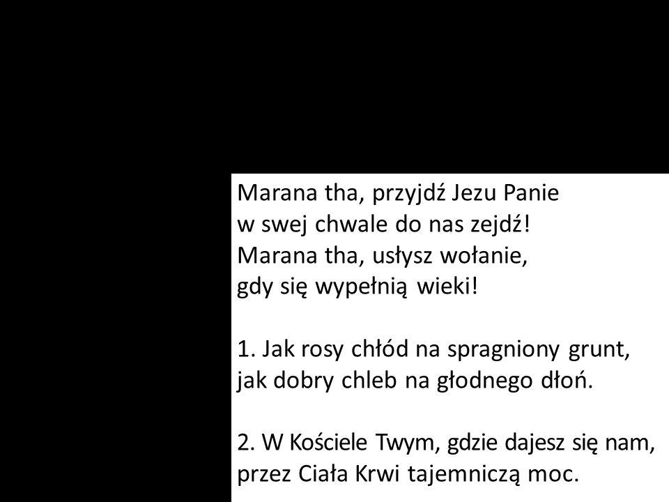 Marana tha, przyjdź Jezu Panie w swej chwale do nas zejdź