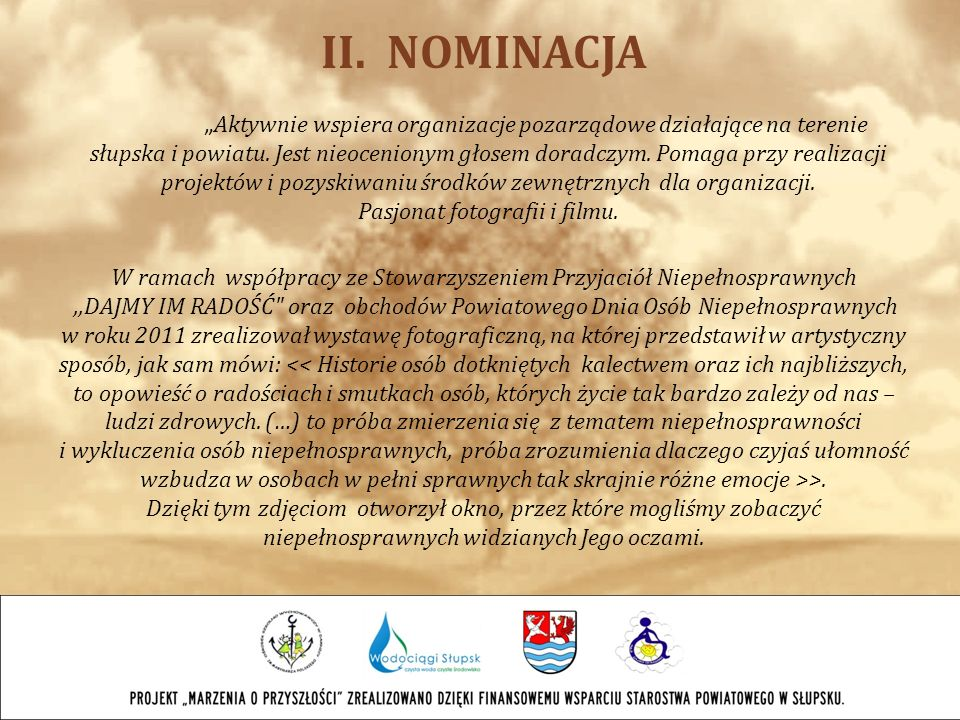 II. NOMINACJA