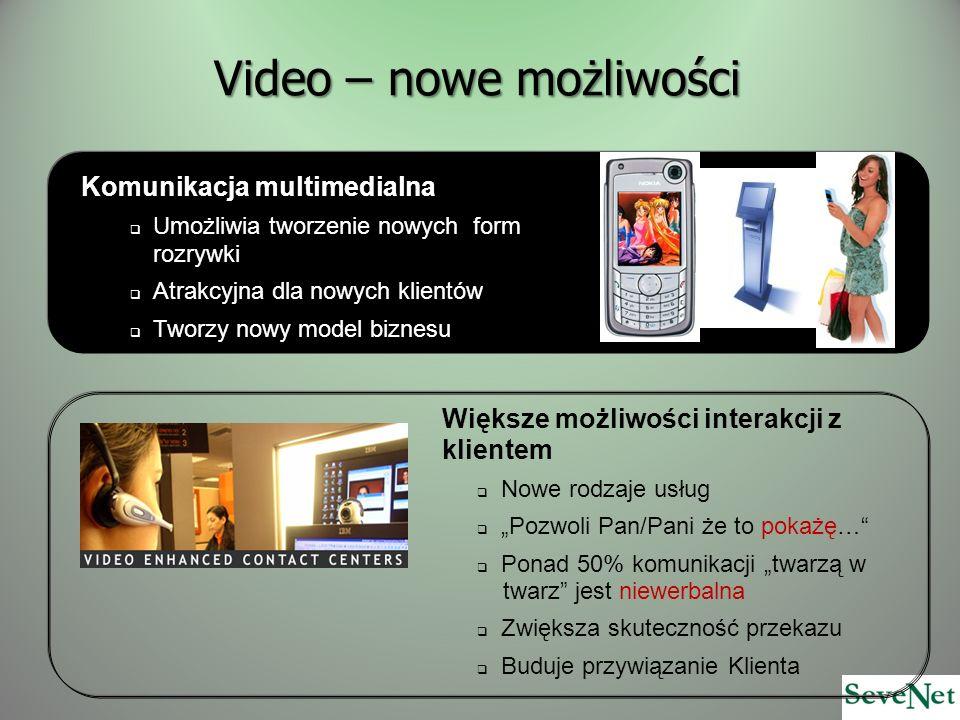 Video – nowe możliwości