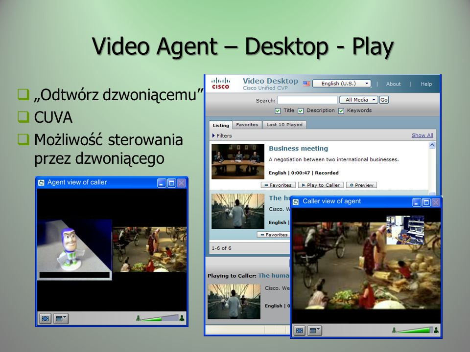 Video Agent – Desktop - Play