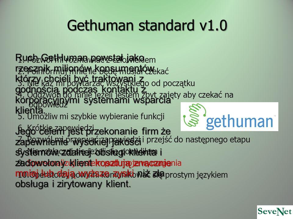 Gethuman standard v1.0