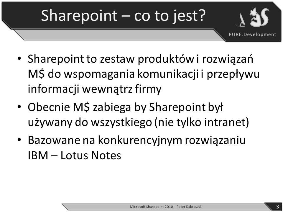 Microsoft Sharepoint 2010 – Peter Dabrowski