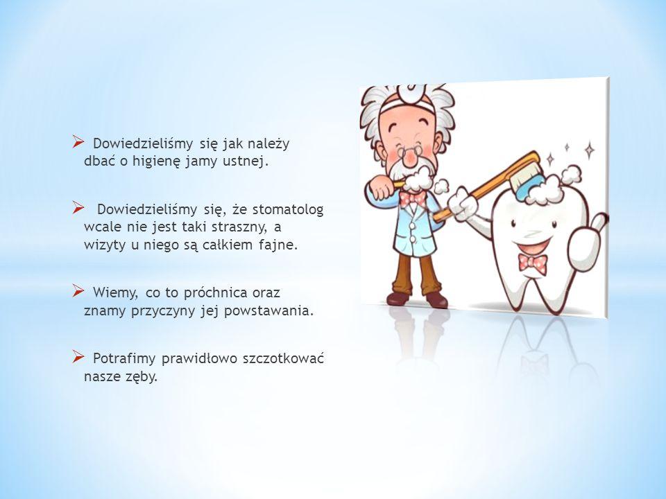 Dowiedzieliśmy się jak należy dbać o higienę jamy ustnej.