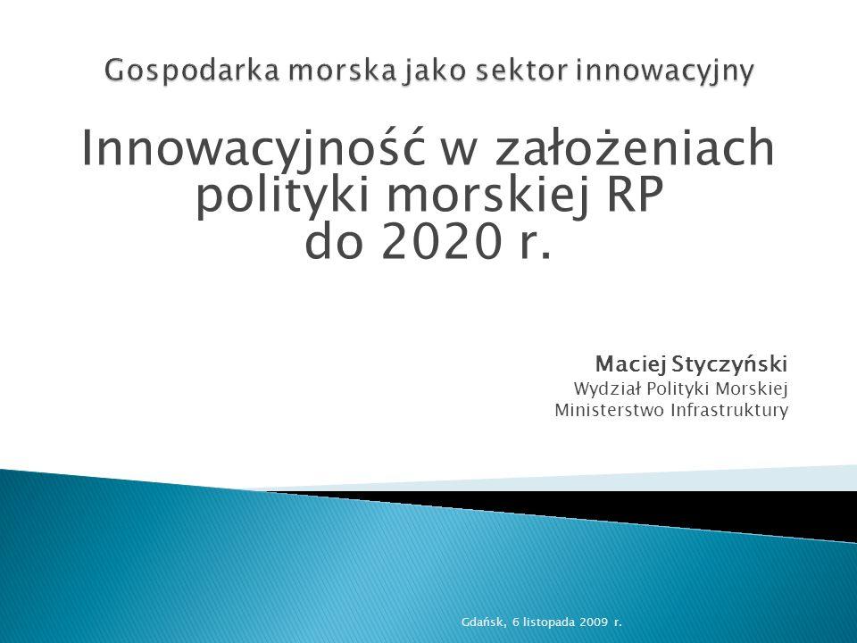 Gospodarka morska jako sektor innowacyjny