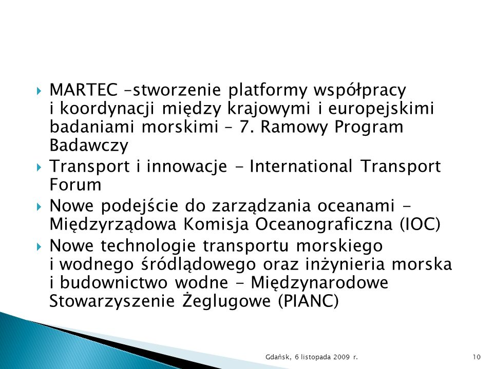 Transport i innowacje - International Transport Forum