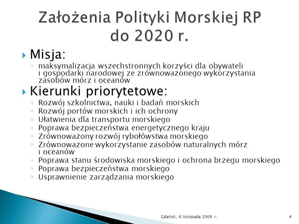 Założenia Polityki Morskiej RP do 2020 r.