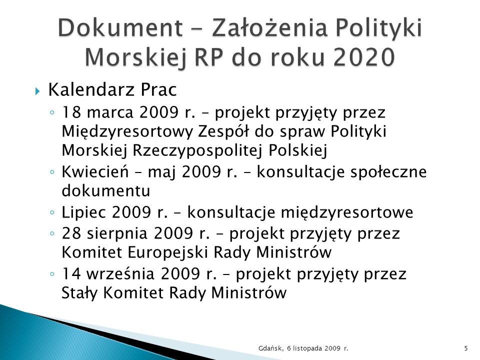 Dokument - Założenia Polityki Morskiej RP do roku 2020