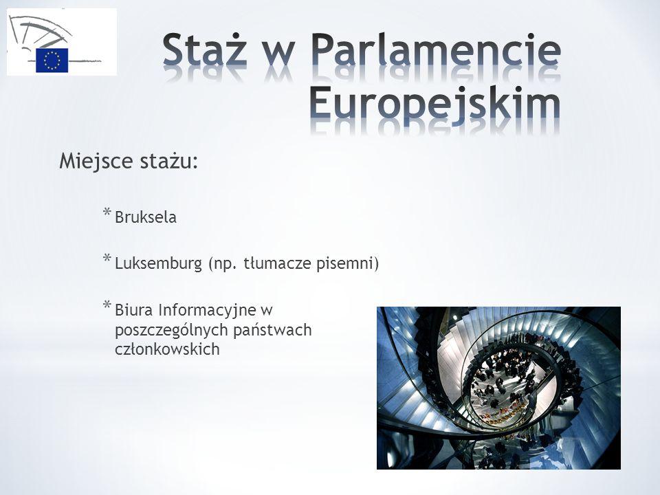 Staż w Parlamencie Europejskim