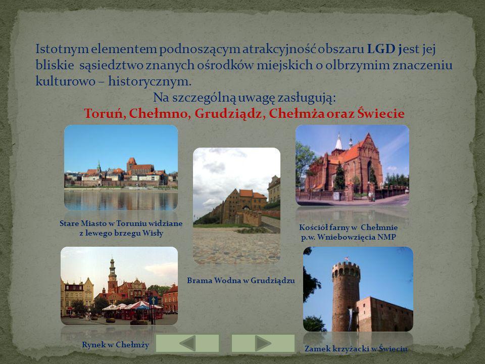 Toruń, Chełmno, Grudziądz, Chełmża oraz Świecie