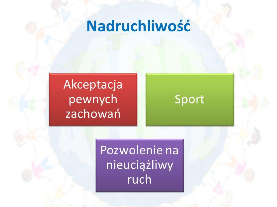 Nadruchliwość Akceptacja pewnych zachowań Sport