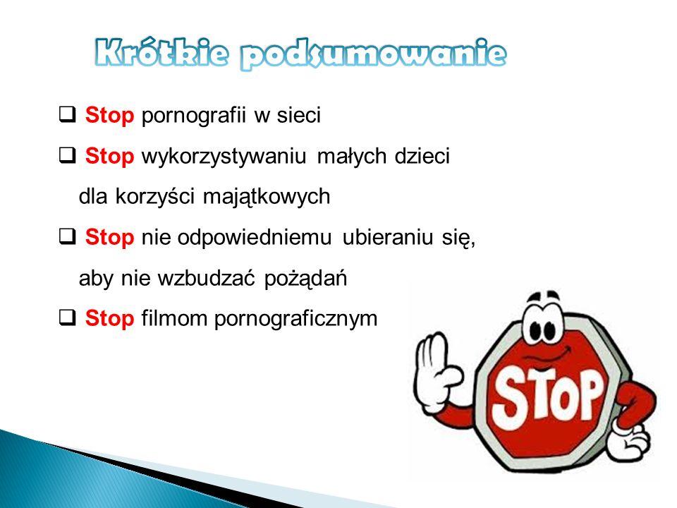 Krótkie podsumowanie Stop pornografii w sieci