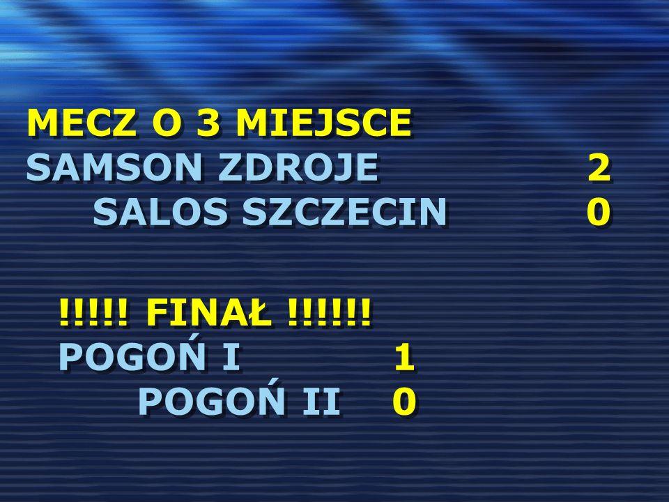 mecz o 3 miejsce Samson Zdroje 2 Salos Szczecin 0