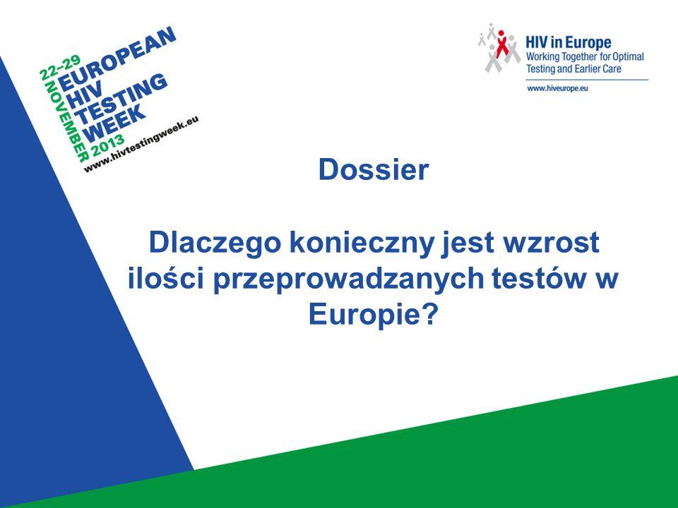 1 Dossier Dlaczego konieczny jest wzrost ilości przeprowadzanych testów w Europie