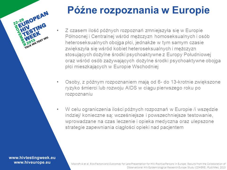 Późne rozpoznania w Europie
