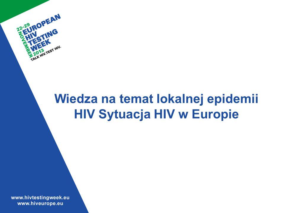 Wiedza na temat lokalnej epidemii HIV Sytuacja HIV w Europie