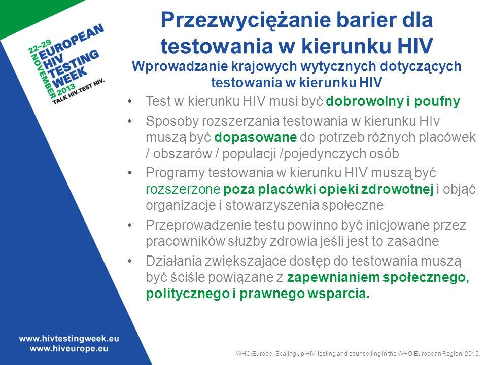 Pięć z dziesięciu głównych zasad opracowanych przez WHO.
