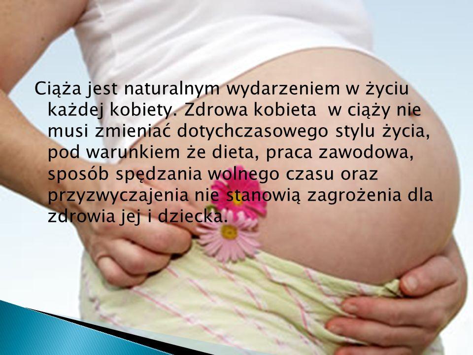 Ciąża jest naturalnym wydarzeniem w życiu każdej kobiety