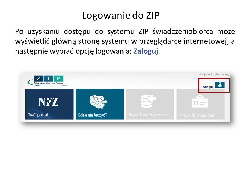 Logowanie do ZIP