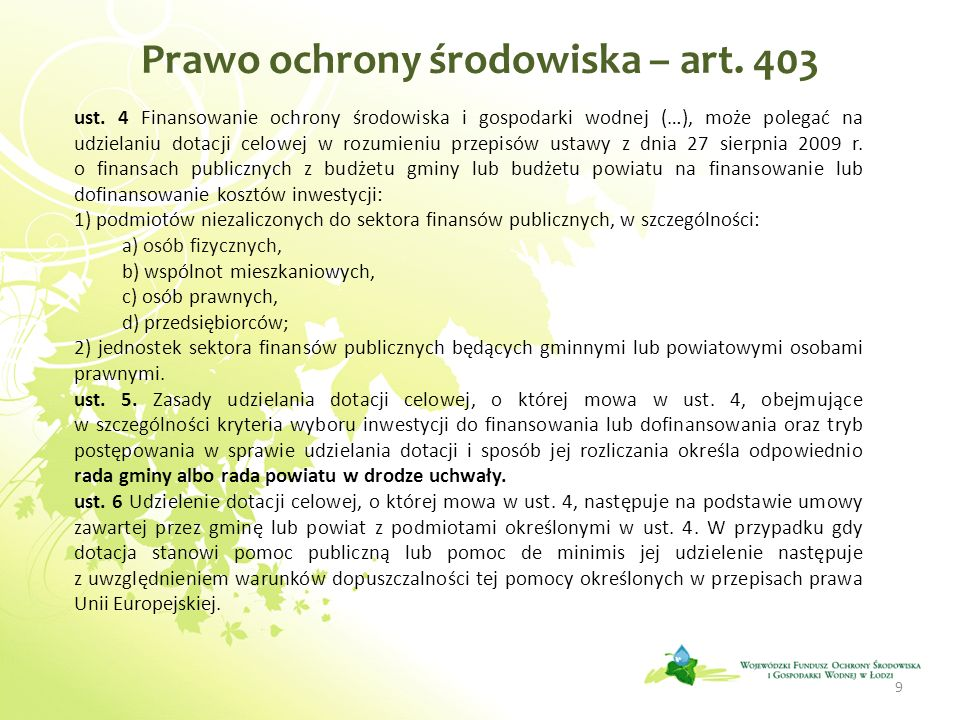 Prawo ochrony środowiska – art. 403
