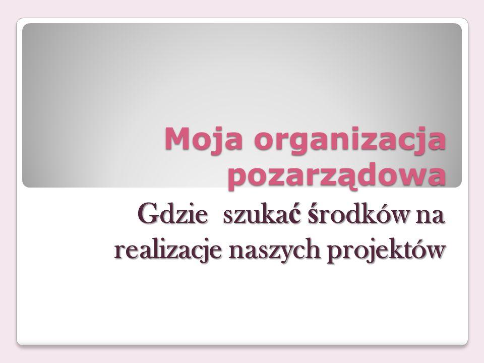 Moja organizacja pozarządowa