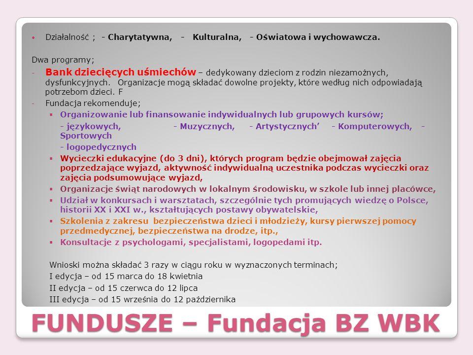 FUNDUSZE – Fundacja BZ WBK