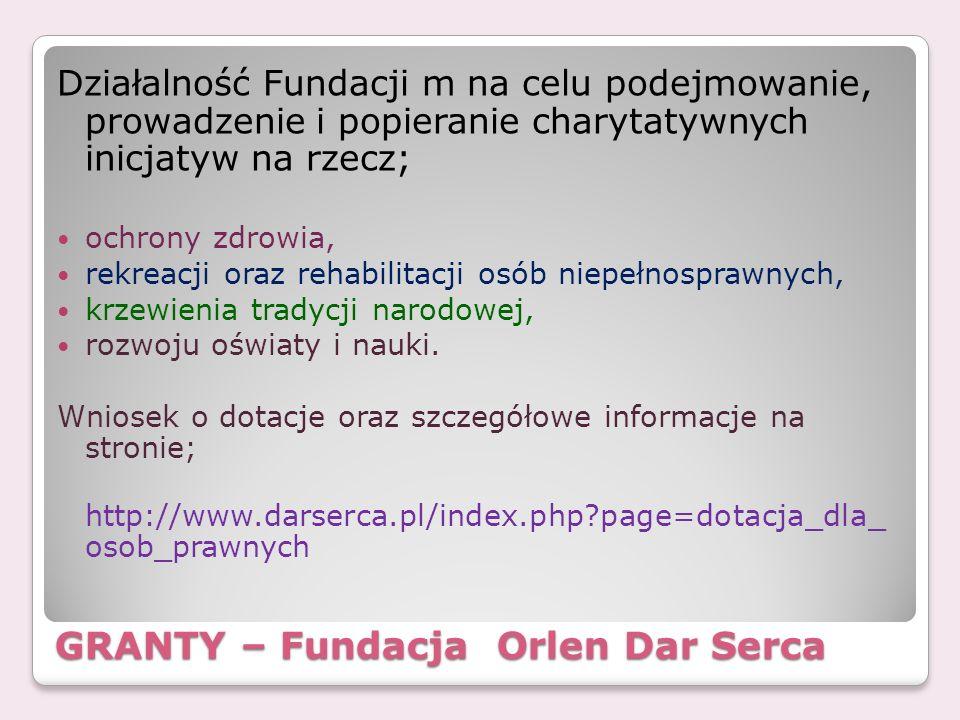 GRANTY – Fundacja Orlen Dar Serca