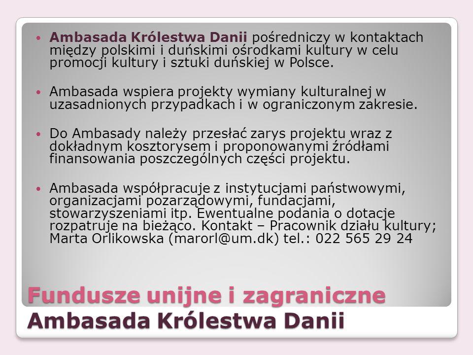 Fundusze unijne i zagraniczne Ambasada Królestwa Danii