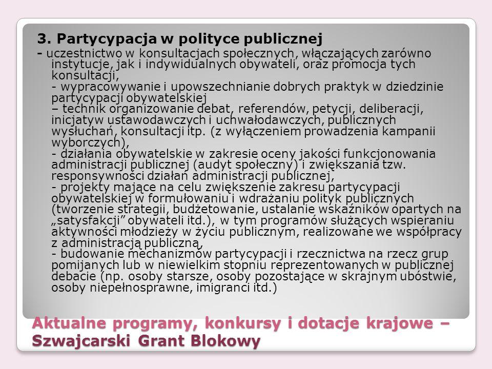 3. Partycypacja w polityce publicznej