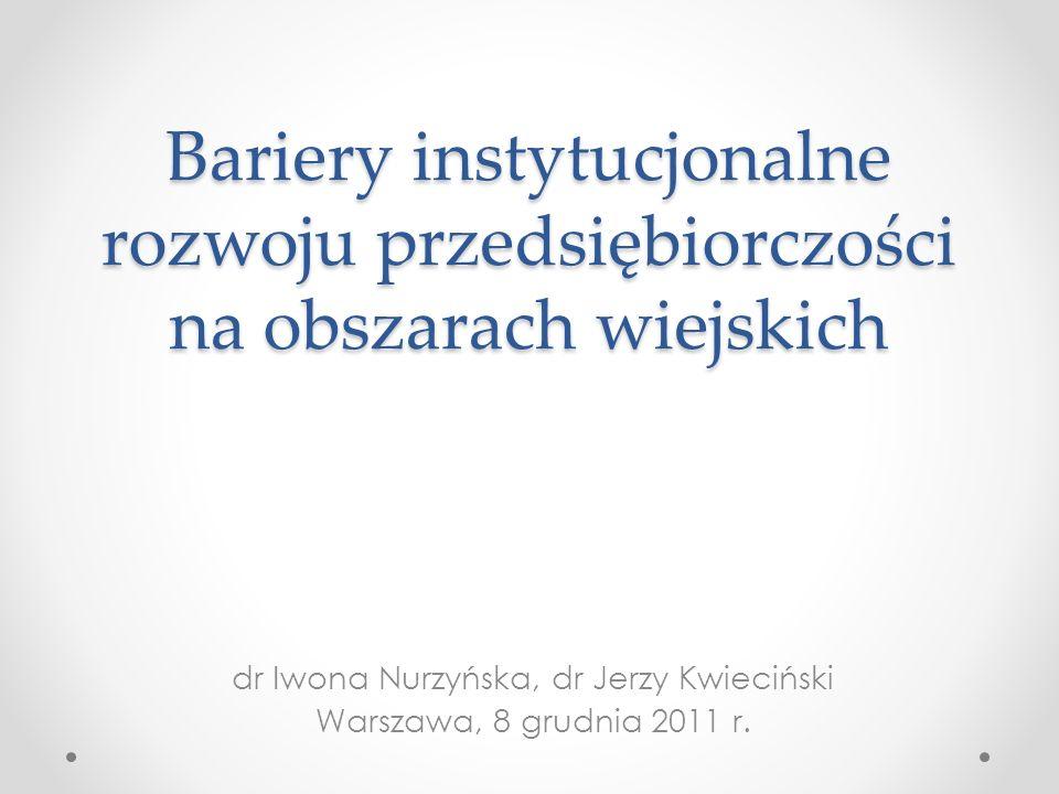 dr Iwona Nurzyńska, dr Jerzy Kwieciński Warszawa, 8 grudnia 2011 r.