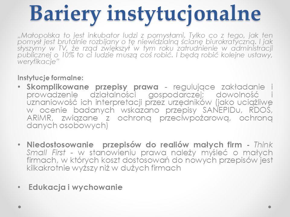 Bariery instytucjonalne