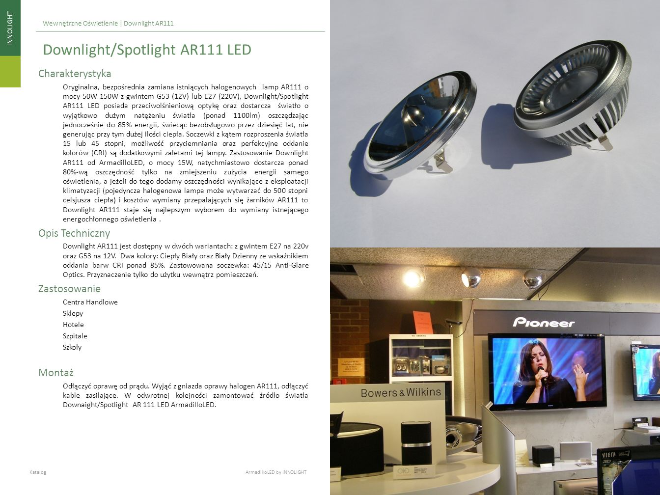 Downlight/Spotlight AR111 LED
