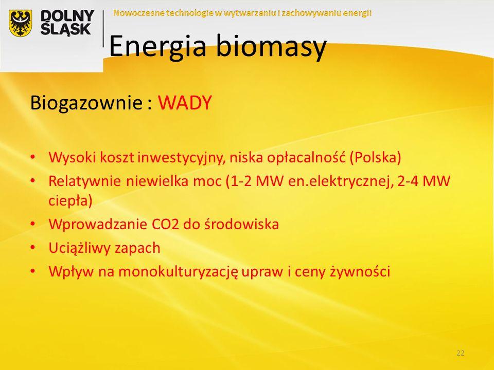 Energia biomasy Biogazownie : WADY