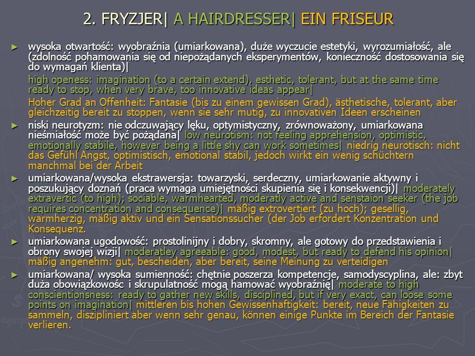 2. FRYZJER| A HAIRDRESSER| EIN FRISEUR