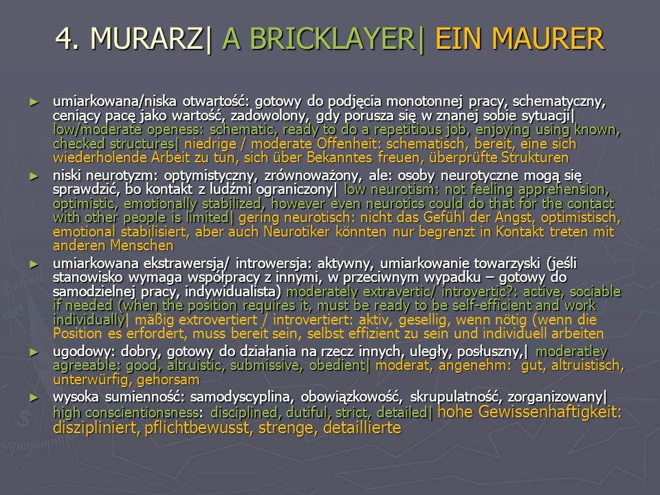 4. MURARZ| A BRICKLAYER| EIN MAURER