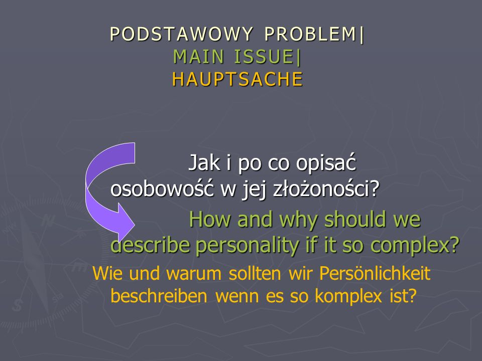 PODSTAWOWY PROBLEM| MAIN ISSUE| HAUPTSACHE