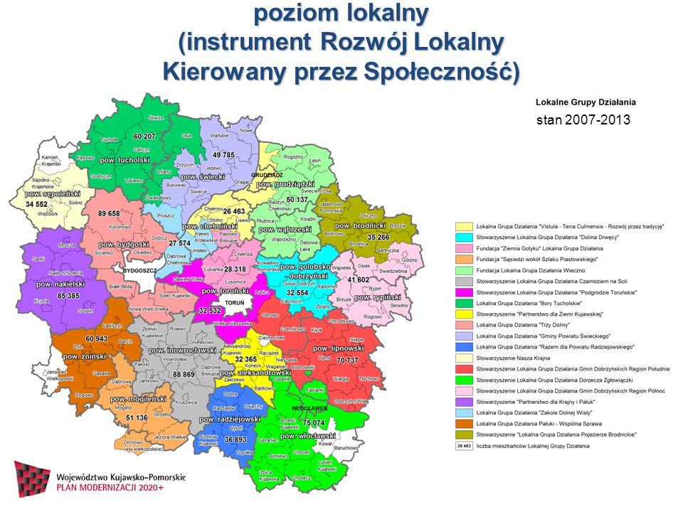 poziom lokalny (instrument Rozwój Lokalny Kierowany przez Społeczność)