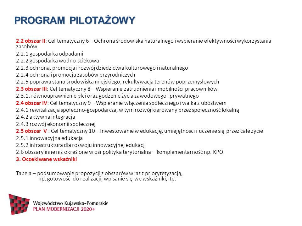 PROGRAM PILOTAŻOWY