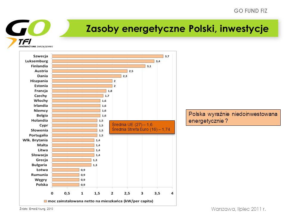 Zasoby energetyczne Polski, inwestycje