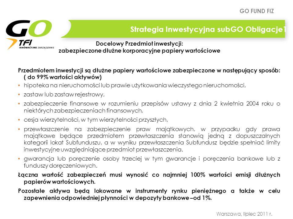 Strategia Inwestycyjna subGO Obligacje1
