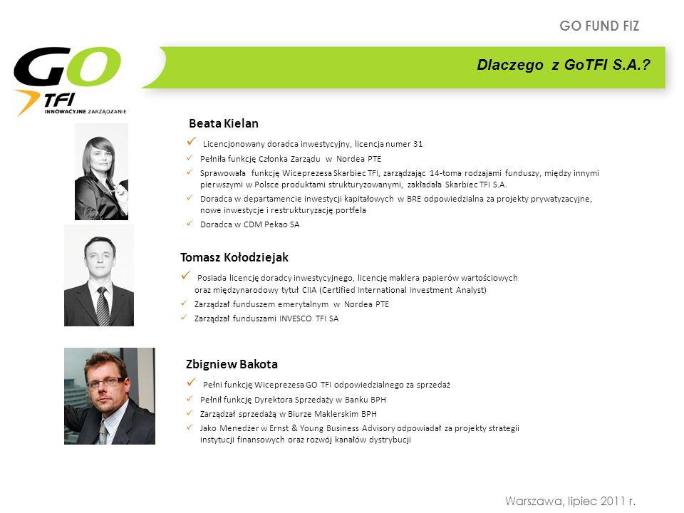 Dlaczego z GoTFI S.A. Beata Kielan. Licencjonowany doradca inwestycyjny, licencja numer 31. Pełniła funkcję Członka Zarządu w Nordea PTE.