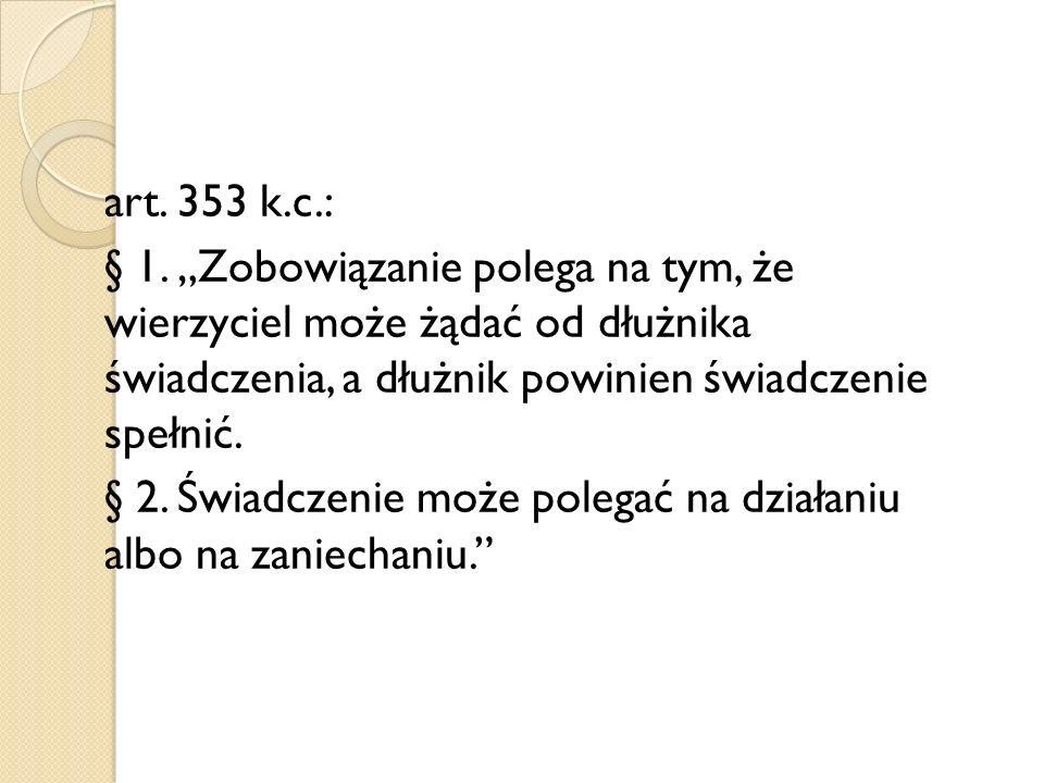 art. 353 k.c.: § 1.