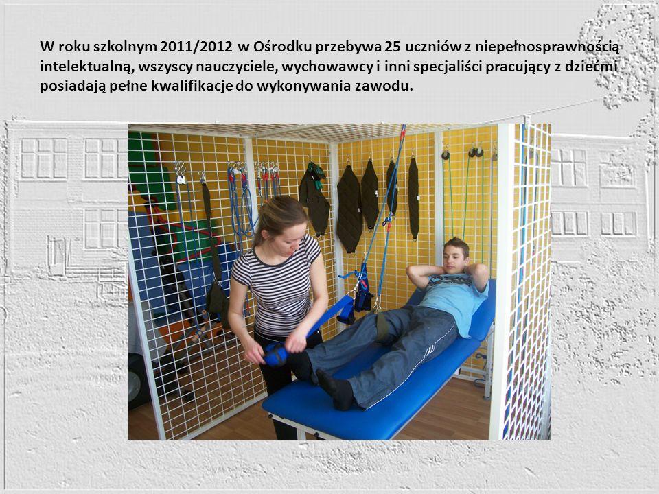W roku szkolnym 2011/2012 w Ośrodku przebywa 25 uczniów z niepełnosprawnością intelektualną, wszyscy nauczyciele, wychowawcy i inni specjaliści pracujący z dziećmi posiadają pełne kwalifikacje do wykonywania zawodu.
