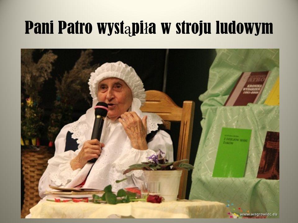 Pani Patro wystąpiła w stroju ludowym