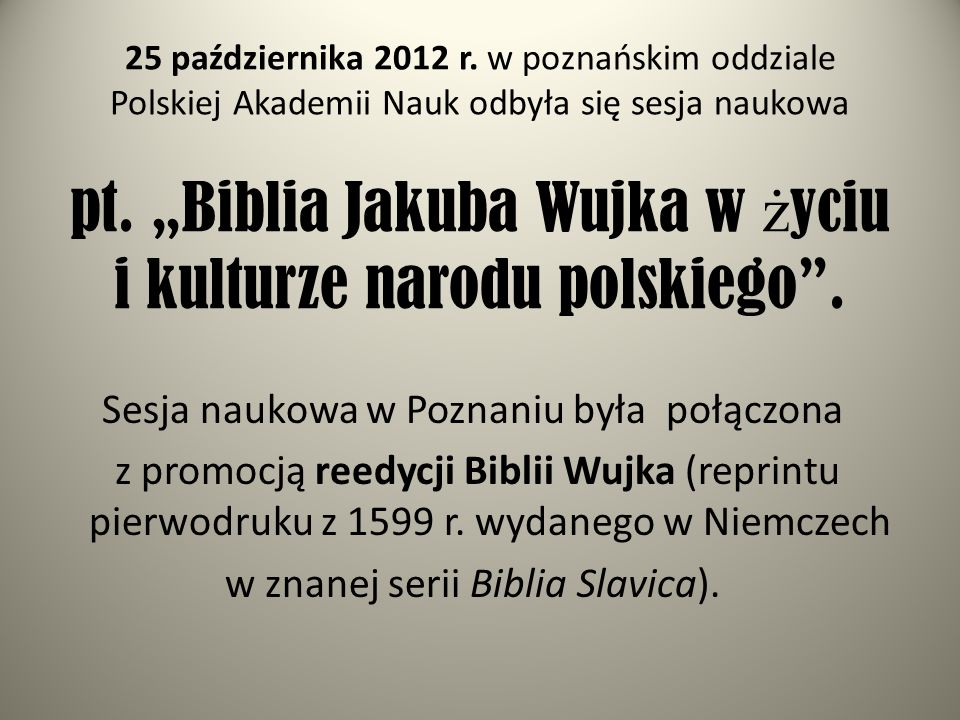 Sesja naukowa w Poznaniu była połączona