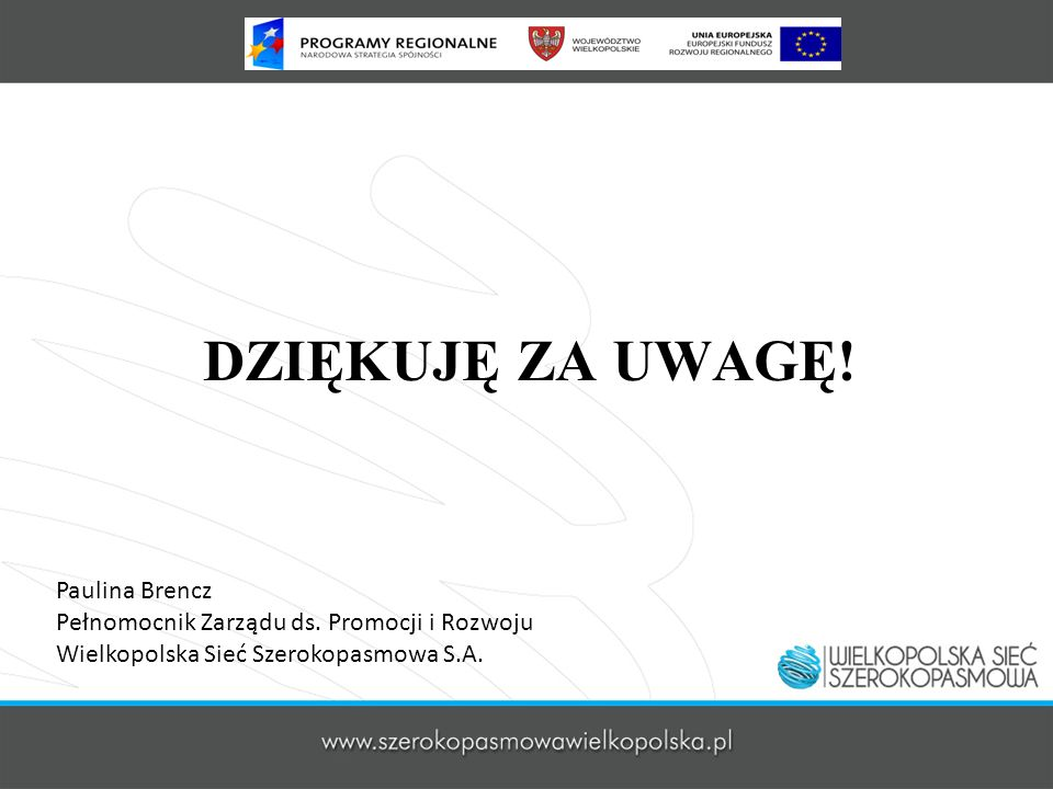 DZIĘKUJĘ ZA UWAGĘ! Paulina Brencz