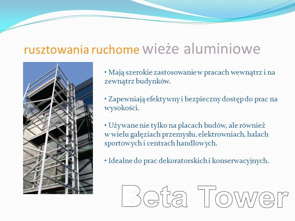 rusztowania ruchome wieże aluminiowe