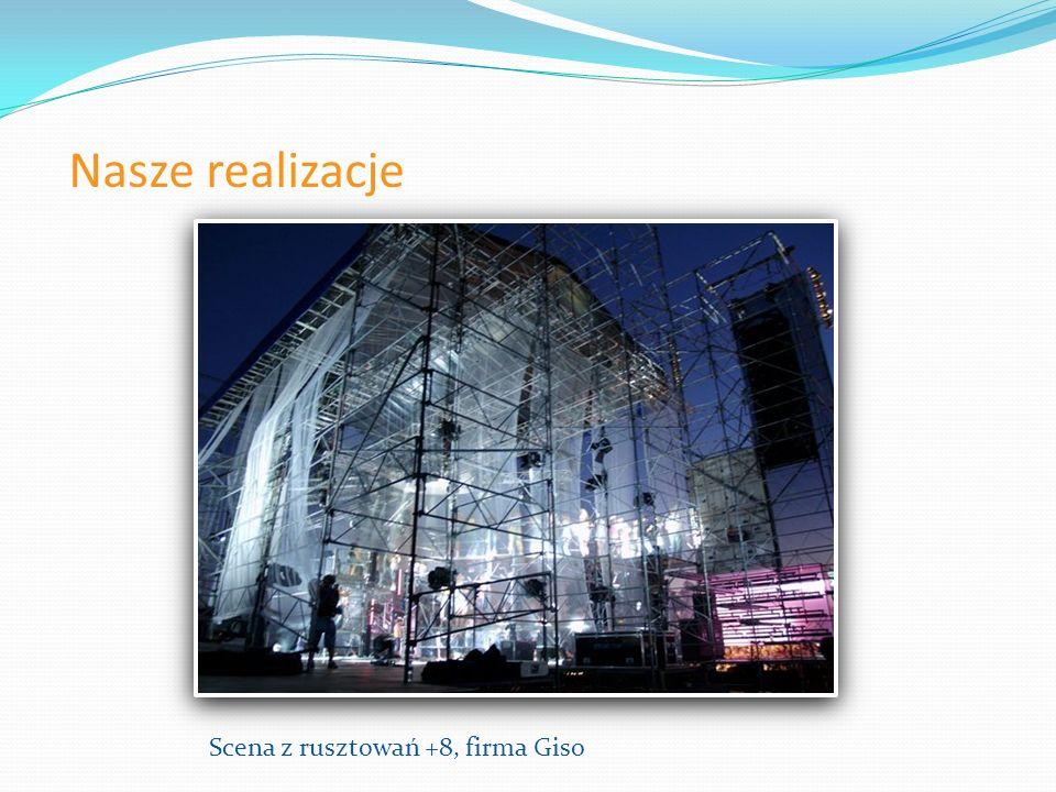 Nasze realizacje Scena z rusztowań +8, firma Giso