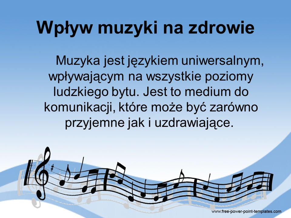 Wpływ muzyki na zdrowie
