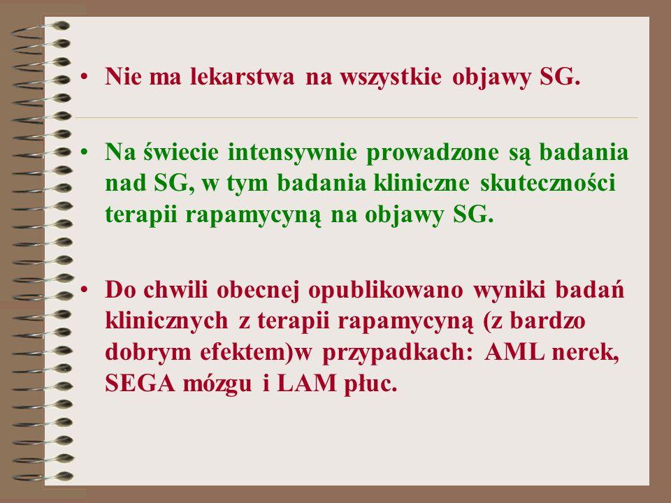 Nie ma lekarstwa na wszystkie objawy SG.