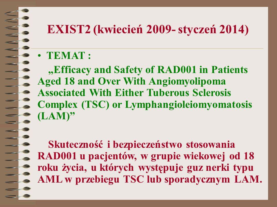 EXIST2 (kwiecień 2009- styczeń 2014)